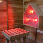 4' x 4' Infrared Sauna + Infrared Light
