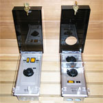 Locking Sauna Heater Control Covers