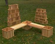 Cedar Planter Garden Boxes
