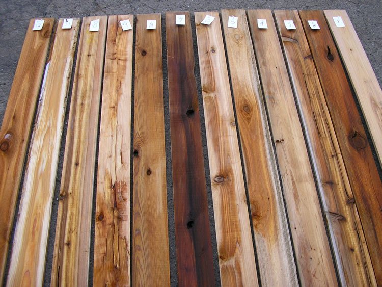 Cedar lumber for Cedar flooring