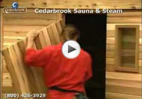 Sauna duckboard (flooring) is assembled and put in the walkway