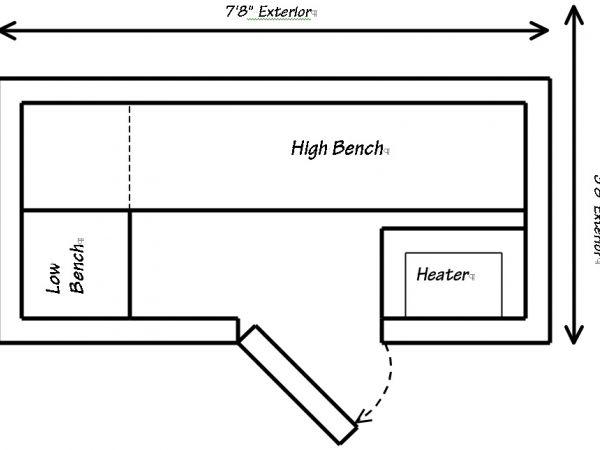 prefab sauna floor plans