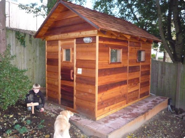 Outdoor saunas kits for Backyard sauna plans