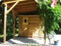 Modular freestanding sauna + roof