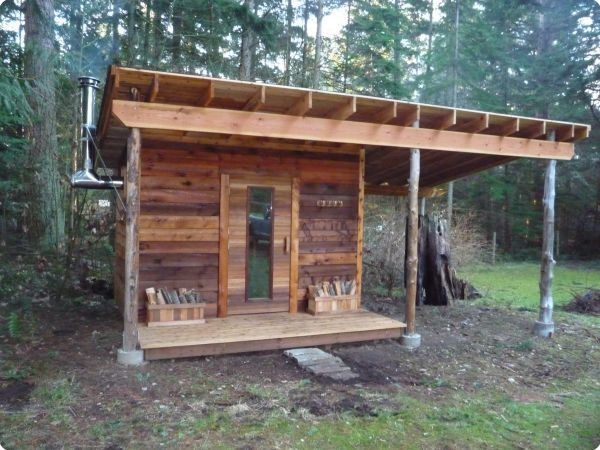 outdoor wood burning sauna plans