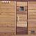 Cedar sauna door with 13x13 window