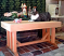 Oly the cat loves the new cedar bench