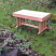 "36"" bench shown here in the garden"