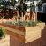 Larger cedar beds in the backyard