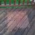 Original deck beneath an old plate