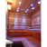 Mixed white and colored lights in sauna ceiling