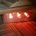 Infrared light under sauna bench