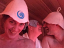 Sauna bathers with sauna hats chewing the fat