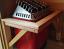 Home-made cedar sauna guard rail