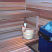 Sauna with knotched dblwide low bench