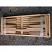 Cedar bench ready to ship (bottom view)