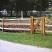 Split cedar fencing and gate