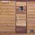 """Sauna door with 10""""x10"""" window"""