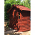 Cedar shingled stained red tone