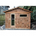 Shingled with door on front wall