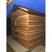 Modular sauna on cement slab