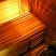 Sauna bench with lighting under