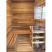 All glass front 5x7 sauna