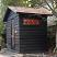 Sauna + dark stained exterior