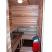 Sauna interior: 4 sauna benches