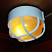 Sauna bulkhead light closeup