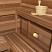Sauna light mounted low