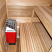 Sauna interior with heater & benches