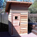 4' x 4' Outdoor sauna shown with slant roof