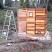 4x6 sauna wall panels assembled outside