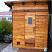 4x6 outdoor modular sauna + slant roof