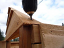 sauna truss screwed to sauna frame