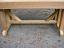 Side view cedar pededstal bench