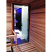 Glass sauna door (inside view)