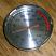 Chrome round thermometer