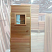 Our standard sauna door with 13x13 window