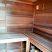 Slider vent near top of sauna