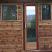 Sauna door (clear glass) in outdoor prefab modular sauna
