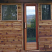 Sauna door (clear glass) in outdoor prefab modular sauna