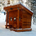 Sauna built in the Sierra Mountains custom post and beam