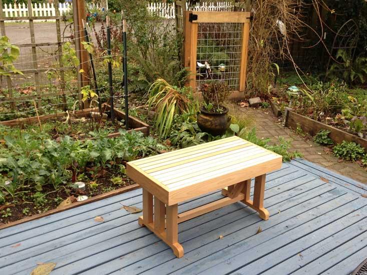 18 U0026quot  X 36 U0026quot  Freestanding Cedar Bench