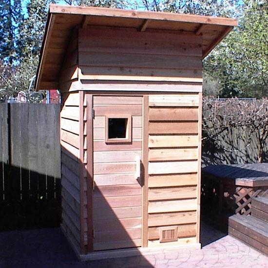 4 X Outdoor Sauna Shown With