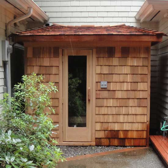 Outdoor Shingled Sauna (5x7) ...