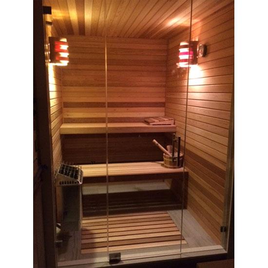 Custom Sauna All Glass Door Front