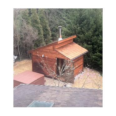 Woodburning Sauna Heater Black Line 16ck