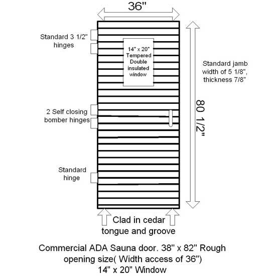 Commercial Sauna Door 14 Quot X 20 Quot Window